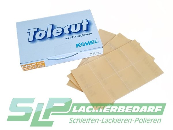 KOVAX Tolecut stick-on Orange 1/8 P 1200, Streifen 29 x 35 mm 191-1526